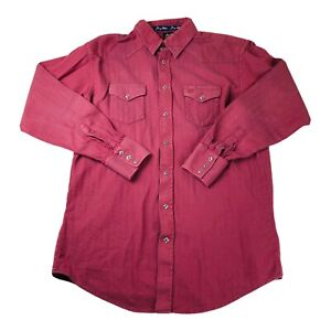GEORGE STRAIT / WRANGLER Embroidered TROUBADOUR Mens Lg. Western Cowboy Shirt
