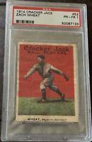 1914 Cracker Jack #52 Zach Wheat (HOF) Brooklyn  - PSA 1 PR-FR Looks Better