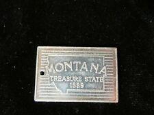 Montana Paris Token 1980's Rectangle Plaque Argent Gaming Stop Sabatique Mesure