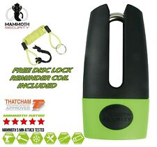 NEW THATCHAM SECURITY APPROVED SHACKLE MOTORCYCLE DISC LOCK WITH REMINDER COIL