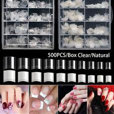500-1000Pcs French Short Nail Tips Half Cover Acrylic Fake Nails Extensions Tips