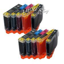 10 CARTUCCE PER CANON iP 4200 4300 4500 5200 MP 500 600 con chip + chip