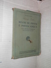 BRANI DI PROSA E POESIA GRECA Valerio Milio Principato 1925 classici greci libro