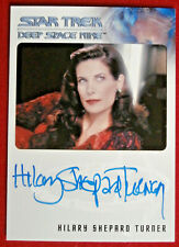STAR TREK DEEP SPACE NINE - HILARY SHEPARD TURNER AUTOGRAPH CARD - 2017