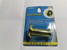 Peephole Door Viewer Security Peep Hole Hardware, Brass Plated