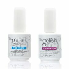 Gelish Harmony Top and Base Coat Gelish Top it off and Foundation Duo LED/ UV