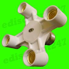 Certificado CE es E27 A 4 E14 Adaptador Divisor Luz sostenedor de la lámpara LED vendedor Reino Unido