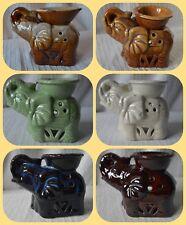 Ceramic Elephant Oil Burner tealight candle holder wax melt essential diffuser