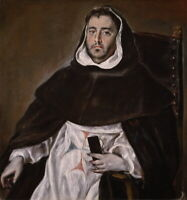 El Greco Portrait Of A Trinitarian Friar Giclee Canvas Print Paintings Poster