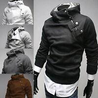 Men Casual Slim Hoodie Sport Pullover Hooded Coat Sweatshirt Sweater Jumper Top
