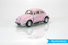 "1967 Volkswagen Classical Beetle 1:32 scale 5"" Die Cast hobby Pink model car"