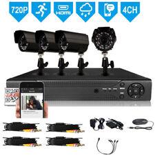4CH 5ini 1080N DVR IR Night Vision 720P CCTV Bullet Camera Home  Security System