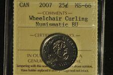 Canada 2007 Quarter 25 Cent -- Wheelchair Curling - ICCS - MS66 -