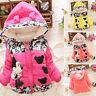 Baby Girls Kids Cartoon Minnie Mouse Hooded Jacket Coat Winter Outerwear Hoodies