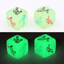 New Glow in dark Sex Product Dice Adults Lovers 6 Sided Games Aid Luminous uk