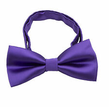 Fashion Black Adjustable Mens Adult Bow Tie Bowtie Pre Tied Silk Wedding Prom