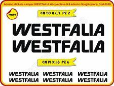 Adesivi stickers camper WESTFALIA kit completo 8 adesivi Cod. 0059