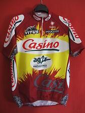 Maillot cycliste Vitus Casino Peugeot Nalini AG2R Vintage Vélo ancien TBE - 6