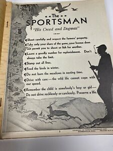 Vintage 30s Federal Cartridge Sportsman Hunting Dealer Conservation Poster Book