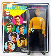 """1974 MEGO Star Trek CAPTAIN KIRK 8"""" Figure MINT ON SEALED 6 FACE BLISTER CARD"""