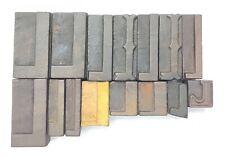Letterpress Letter Wood Type Printers Block Lot Of L 15 Typography Eb 276