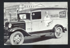REAL PHOTO 1930 FORD PANEL TRUCK COCA COLA ADVERTISING POSTCARD COPY '30