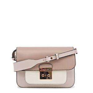 Original Michael Kors Umhängetasche Damentasche Clutch echtes Leder beige bag