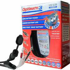 OPTIMATE 3 12v Motorcycle Scooter battery charger