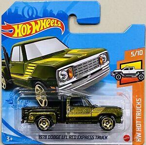 Hot Wheels 1978 Dodge LI'L Red Express Truck Treasure Hunt 2021 M Box Short Card
