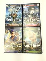 Lot of 4 Nancy Drew PC CD Rom Mystery Games #24,28,30,32 - Ages 10 to Adult