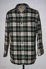 EUC LL Bean Fleece Lined Plaid Flannel Button Front LS Casual Shirt Sz M Tall