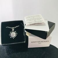 Beautiful Silver Tone Signed Avon Hometown Sun Necklace New in Box