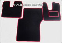 MAN TGA XXL CARPET FLOOR SET BLACK/RED TRIM[TRUCK PARTS & ACCESSORIES]
