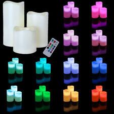 3er Set LED Kunststoff Kerzen mit Timer Fernbedienung Farbwechsel Timerfunktion