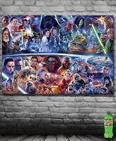 Banner w/ Starwars Starwars Then and Now Art Poster Banner USA