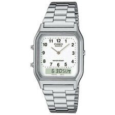 Casio AQ-230A-7BMQYES Mens Classic Combi Watch with Numeric Digits Silver/White