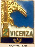 """Alpini 2° Vicenza distintivo Esercito Italiano produttore Labor """"790"""""""