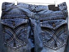 Men's Xtreme Couture Jeans 100% Cotton Mid-Rise Straight Leg Flap Pocket Size 36