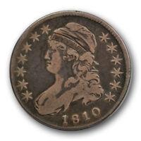 1810 50C Capped Bust Half Dollar Very Fine VF Rotated Dies Original #RP71