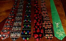 NWT Mens Neckties 6 Holiday Halloween Thanksgiving Christmas Easter St Patty H-2