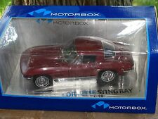 Exoto Motorbox 1967 Chevy Corvette Sting Ray Coupe 1:18 Scale Diecast Model Car
