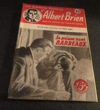 1940s ADVENTURES POLICIER ALBERT BRIEN DETECTIVE SEX MURDER FRENCH  PULP #546