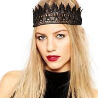 New Fashion Women Bandana Lace Head Wrap Girl Wide Headband Hair Accessories