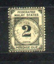 1924 Malaya Federated Malay States Postage Due 2c