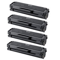 4-Pk/Pack Samsung MLT-D101S Black Toner Cartridge ML-2165W SCX-3405W SF760P