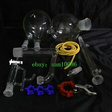 Essential oil steam distillation kit,Liebig  Condenser,All Glassware Clamps,New