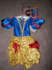 Disney  Snow White  Deluxe Princess Dress Costume with wig new Halloween  7/8