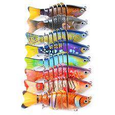 8pcs Lot Color Painted Swimbaits Fishing Lures Swimbait Bait Tackle 10cm 15.6g