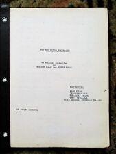 970 UNPRODUCED ISRAELI SCREENPLAY by MENAHEM GOLAN Copy of Agent PAUL KOHNER