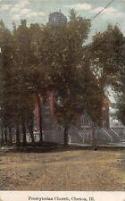 F47/ Chenoa Illinois Postcard 1910 Presbyterian Church Building